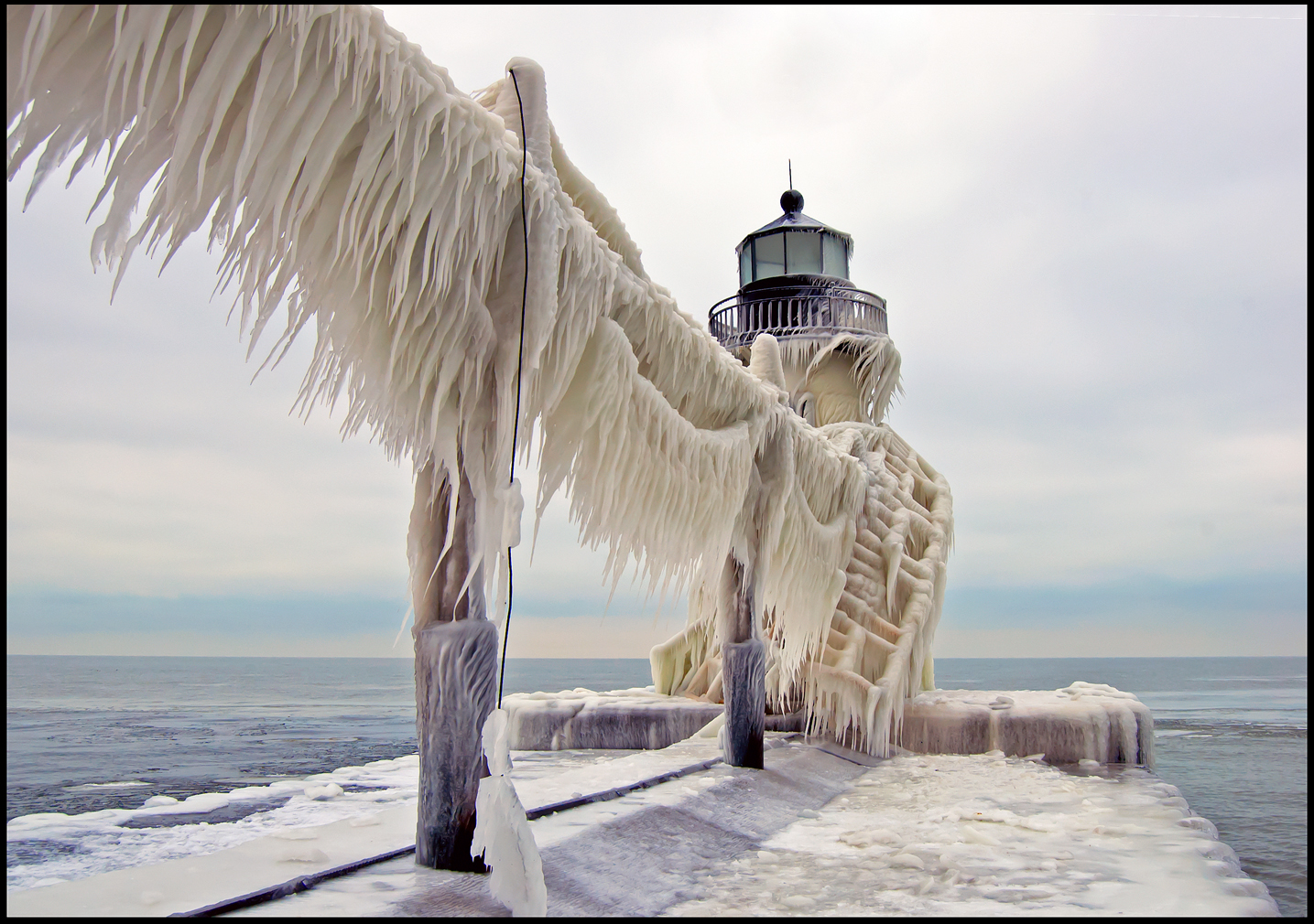 Ice on St. Joe Light