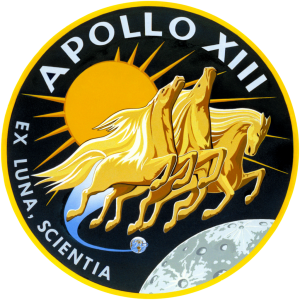This is the insignia of the Apollo 13 lunar landing mission.