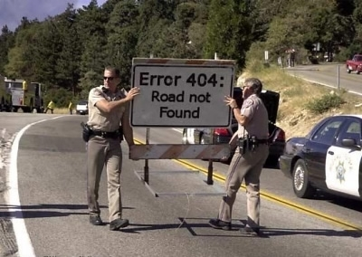 Road Not Found - 404