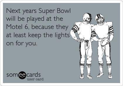 Super Bowl at Motel 6