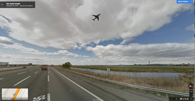 Google Street View Captures Shuttle