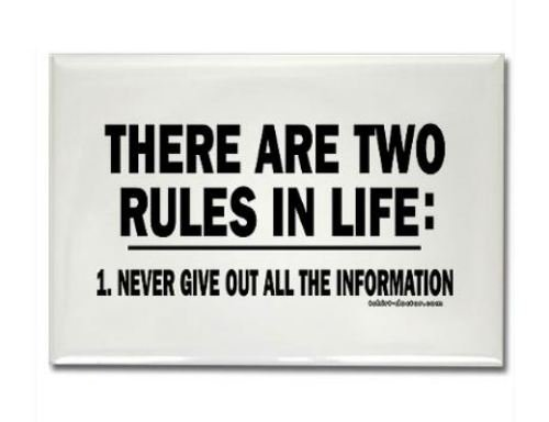 There are two rules in life