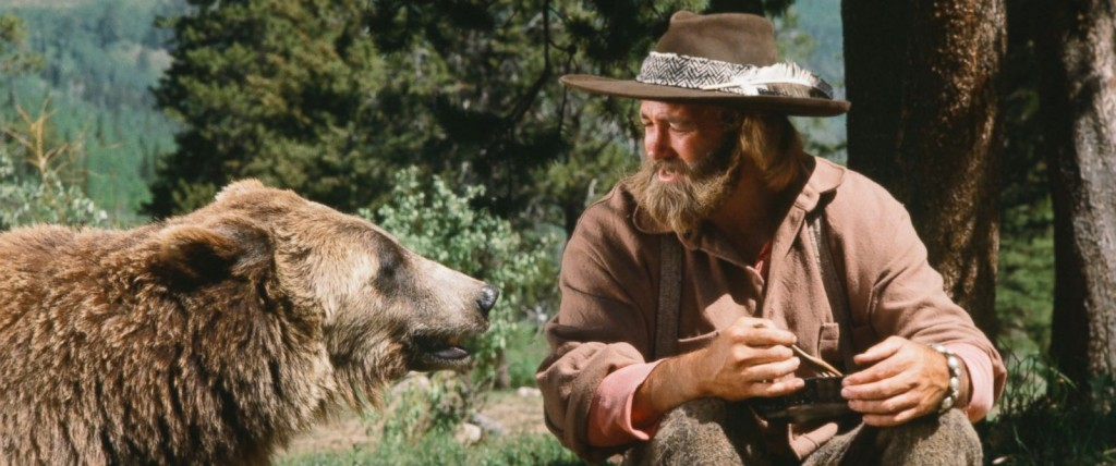 "Pictured in this undated photo is Bozo the Bear as Ben and Dan Haggerty as James 'Grizzly' Adams in the TV show ""The Life and Times of Grizzly Adams""."